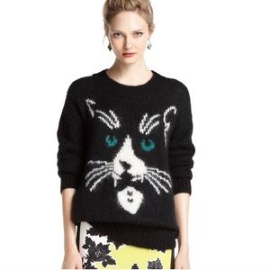 Bar III Mohair Black Cat Sweater, Small